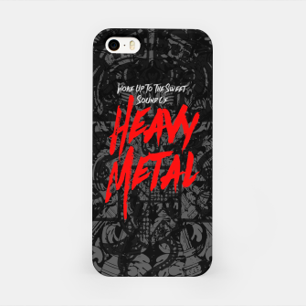 Thumbnail image of Woke Up To The Sweet Sound Of HEAVY METAL iPhone Case, Live Heroes