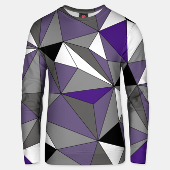Imagen en miniatura de Abstract geometric pattern - gray, purple, black and white. Cotton sweater, Live Heroes