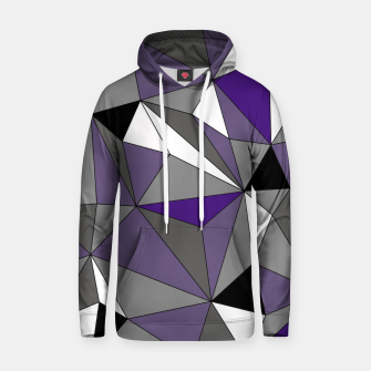 Imagen en miniatura de Abstract geometric pattern - gray, purple, black and white. Cotton hoodie, Live Heroes