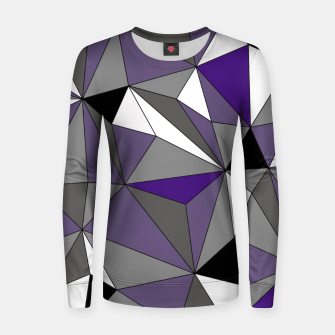 Imagen en miniatura de Abstract geometric pattern - gray, purple, black and white. Woman cotton sweater, Live Heroes