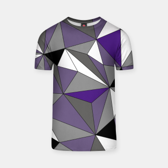 Imagen en miniatura de Abstract geometric pattern - gray, purple, black and white. T-shirt, Live Heroes