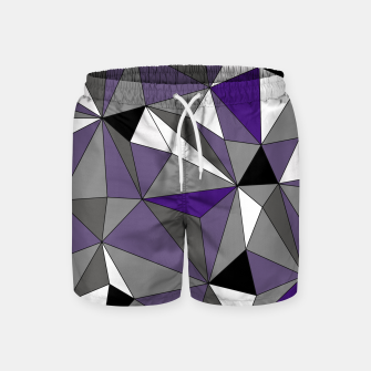 Imagen en miniatura de Abstract geometric pattern - gray, purple, black and white. Swim Shorts, Live Heroes
