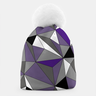 Imagen en miniatura de Abstract geometric pattern - gray, purple, black and white. Beanie, Live Heroes