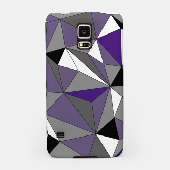 Imagen en miniatura de Abstract geometric pattern - gray, purple, black and white. Samsung Case, Live Heroes