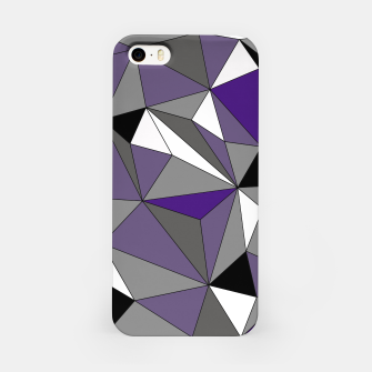 Imagen en miniatura de Abstract geometric pattern - gray, purple, black and white. iPhone Case, Live Heroes