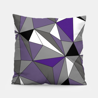 Imagen en miniatura de Abstract geometric pattern - gray, purple, black and white. Pillow, Live Heroes