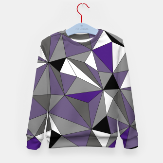 Imagen en miniatura de Abstract geometric pattern - gray, purple, black and white. Kid's sweater, Live Heroes