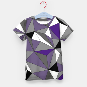 Imagen en miniatura de Abstract geometric pattern - gray, purple, black and white. Kid's t-shirt, Live Heroes