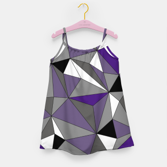 Imagen en miniatura de Abstract geometric pattern - gray, purple, black and white. Girl's dress, Live Heroes