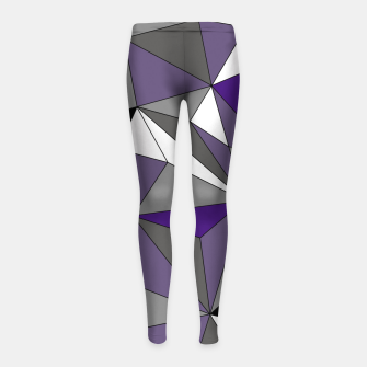Imagen en miniatura de Abstract geometric pattern - gray, purple, black and white. Girl's leggings, Live Heroes