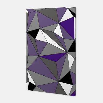 Imagen en miniatura de Abstract geometric pattern - gray, purple, black and white. Canvas, Live Heroes