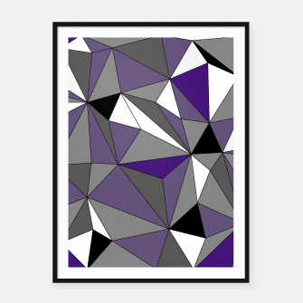 Imagen en miniatura de Abstract geometric pattern - gray, purple, black and white. Framed poster, Live Heroes