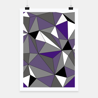 Imagen en miniatura de Abstract geometric pattern - gray, purple, black and white. Poster, Live Heroes