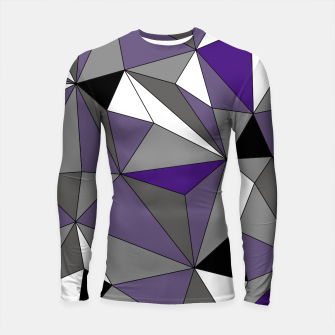 Imagen en miniatura de Abstract geometric pattern - gray, purple, black and white. Longsleeve rashguard , Live Heroes