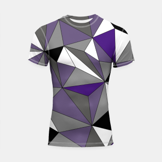 Imagen en miniatura de Abstract geometric pattern - gray, purple, black and white. Shortsleeve rashguard, Live Heroes