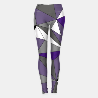 Imagen en miniatura de Abstract geometric pattern - gray, purple, black and white. Leggings, Live Heroes