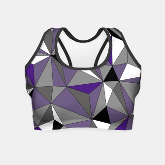 Imagen en miniatura de Abstract geometric pattern - gray, purple, black and white. Crop Top, Live Heroes