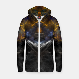 Thumbnail image of Equinon Mountain Cotton zip up hoodie, Live Heroes