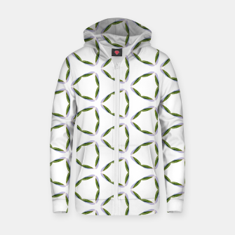 Thumbnail image of Olive Leaves Pattern Cotton zip up hoodie, Live Heroes