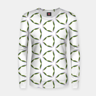 Thumbnail image of Olive Leaves Pattern Woman cotton sweater, Live Heroes