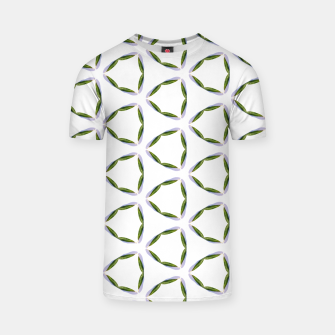 Thumbnail image of Olive Leaves Pattern T-shirt, Live Heroes