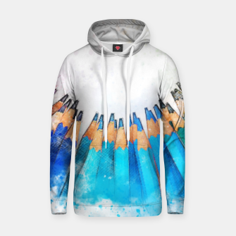 Thumbnail image of Pencil Circle Rainbow Art Design Cotton hoodie, Live Heroes