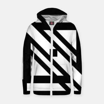Thumbnail image of GeoMixPat Cotton zip up hoodie, Live Heroes