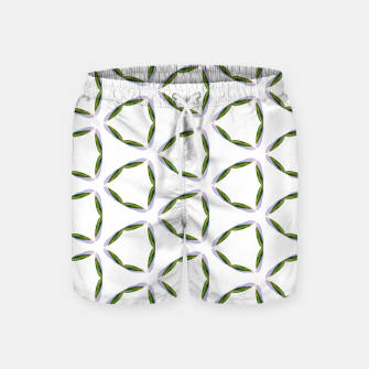 Thumbnail image of Olive Leaves Pattern Swim Shorts, Live Heroes