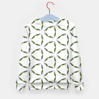 Thumbnail image of Olive Leaves Pattern Kid's sweater, Live Heroes