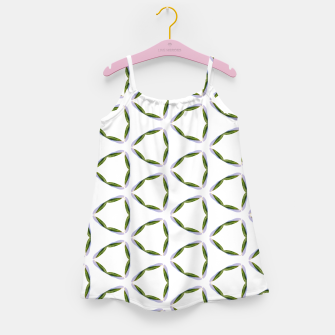 Thumbnail image of Olive Leaves Pattern Girl's dress, Live Heroes