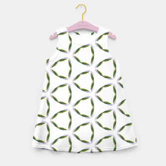Thumbnail image of Olive Leaves Pattern Girl's summer dress, Live Heroes
