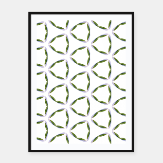 Thumbnail image of Olive Leaves Pattern Framed poster, Live Heroes