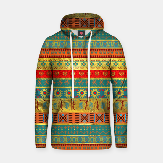 Thumbnail image of Colorful African Ethnic Tribal Pattern  Cotton hoodie, Live Heroes