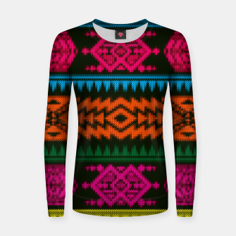 Thumbnail image of Ethnic Knitted pattern Woman cotton sweater, Live Heroes