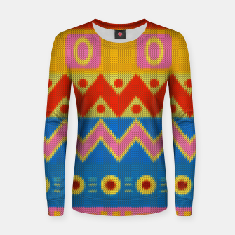 Thumbnail image of Ethnic African Knitted style design Woman cotton sweater, Live Heroes