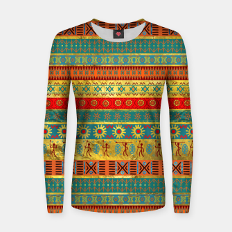 Thumbnail image of Colorful African Ethnic Tribal Pattern  Woman cotton sweater, Live Heroes