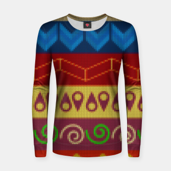 Thumbnail image of Ethnic African Geometric Knitted style design Woman cotton sweater, Live Heroes