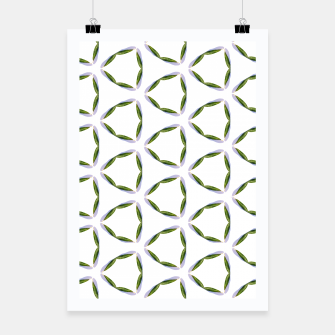Thumbnail image of Olive Leaves Pattern Poster, Live Heroes