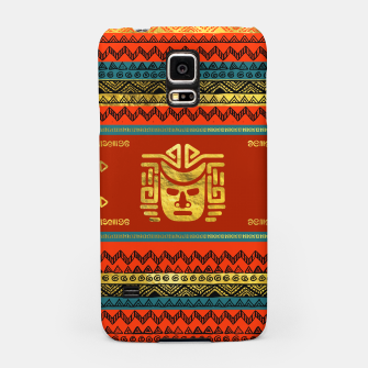 Thumbnail image of Golden  Ethnic Mask on Bright Tribal Pattern  Samsung Case, Live Heroes