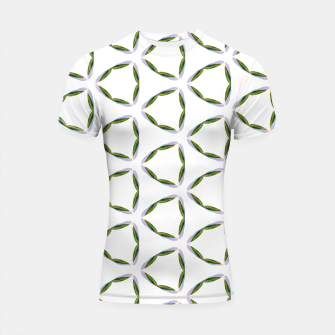 Thumbnail image of Olive Leaves Pattern Shortsleeve rashguard, Live Heroes