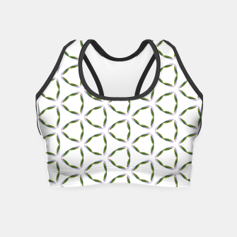 Thumbnail image of Olive Leaves Pattern Crop Top, Live Heroes