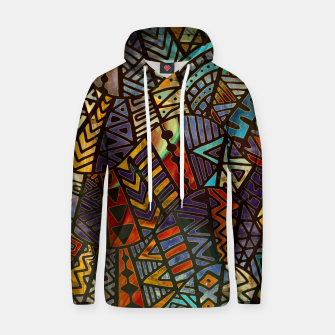 Thumbnail image of Tribal  Boho Pattern Gold and Brown Cotton hoodie, Live Heroes