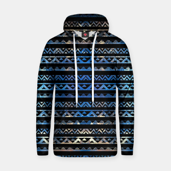 Thumbnail image of Geometric Lines Tribal  gold on abstract paint  Cotton hoodie, Live Heroes