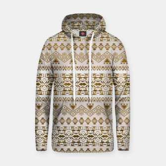 Thumbnail image of Golden Geometric Tribal Ethnic  Pattern Cotton hoodie, Live Heroes