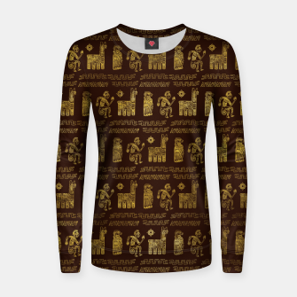 Thumbnail image of Tribal Aztec Ethnic  Pattern Woman cotton sweater, Live Heroes