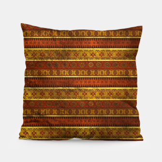 Miniature de image de African Ethnic Tribal Pattern in golds and brown Pillow, Live Heroes