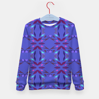 Thumbnail image of Kids sweater with mandalas BLUE FOLK, Live Heroes