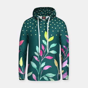 Thumbnail image of Watercolor leaves Cotton hoodie, Live Heroes