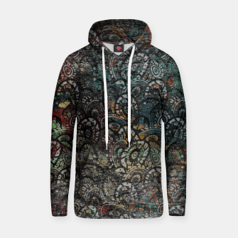 Thumbnail image of Burned Color  Paisley Pattern on  Wood  Cotton hoodie, Live Heroes