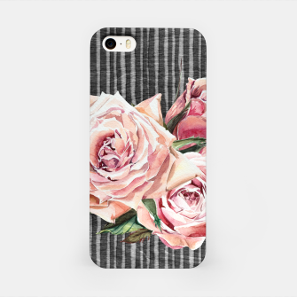 Thumbnail image of Watercolor Flowers on Dark Burned Wood iPhone Case, Live Heroes